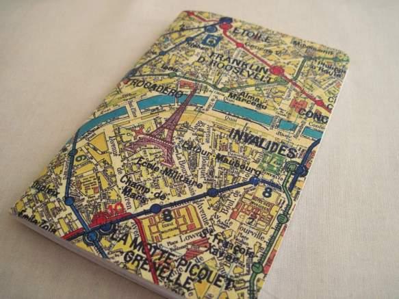 Travel Journal Map of Paris France Eiffel Tower Bucket List Adventures