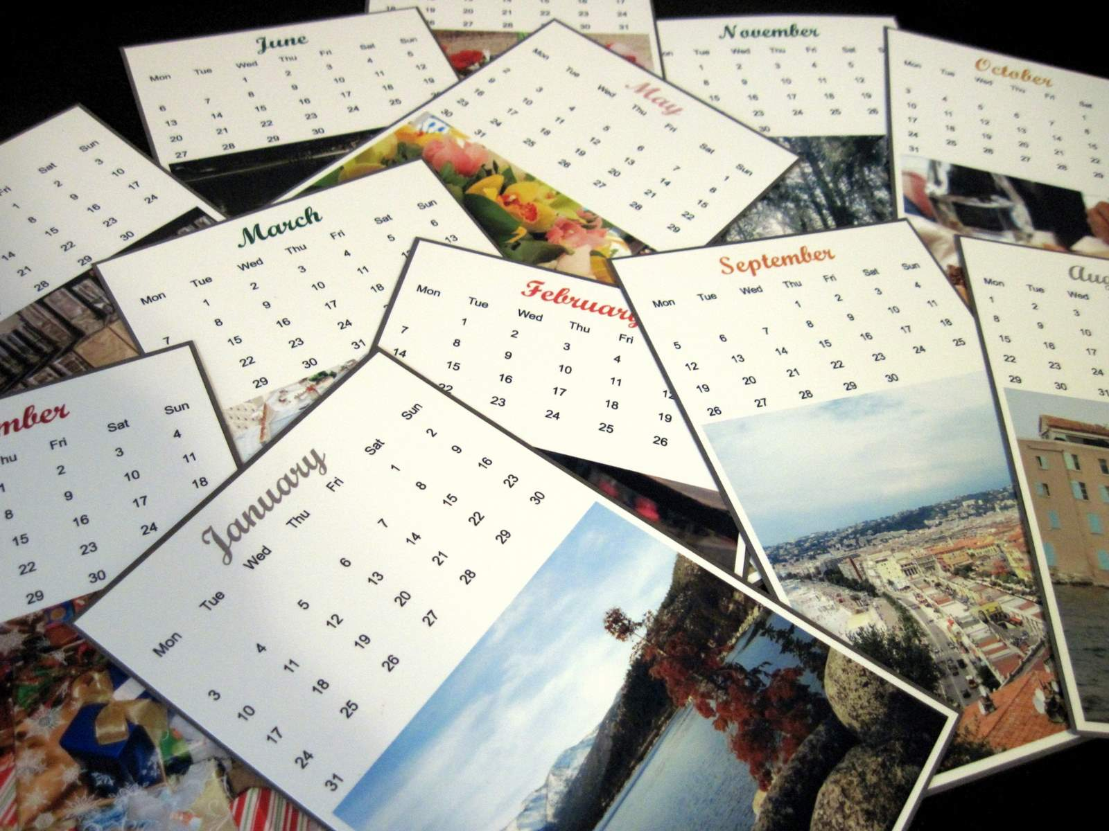 Desk Calendar Tutorial and Giveaway   Almost Never Clever
