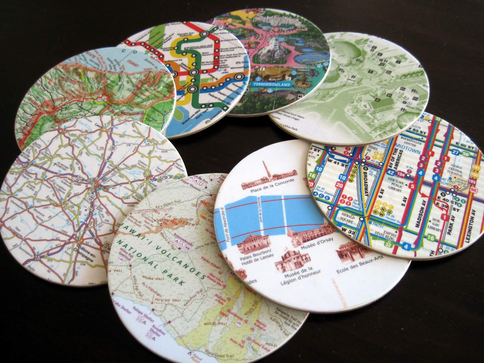 map-coasters-12 Map Coasters on map boxes, map heart ideas, map furniture, map office decor, map labels, map jewelry, map dishes, map template, map invitations, map fabric by the yard, map prints, map bag, map clothing, map accessories, map books, map games, map buttons, map pens, map watches, map themed fabric,