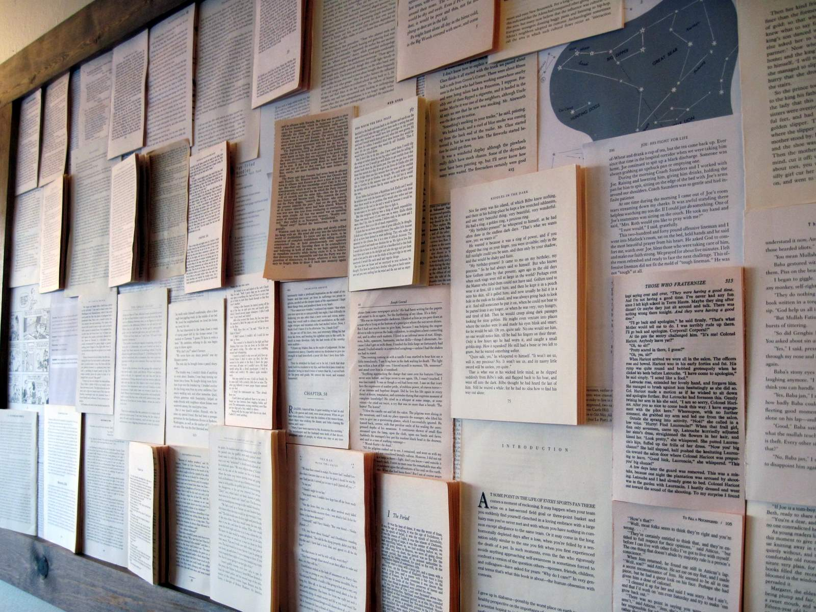 The book project finale almost never clever for Cool wall ideas