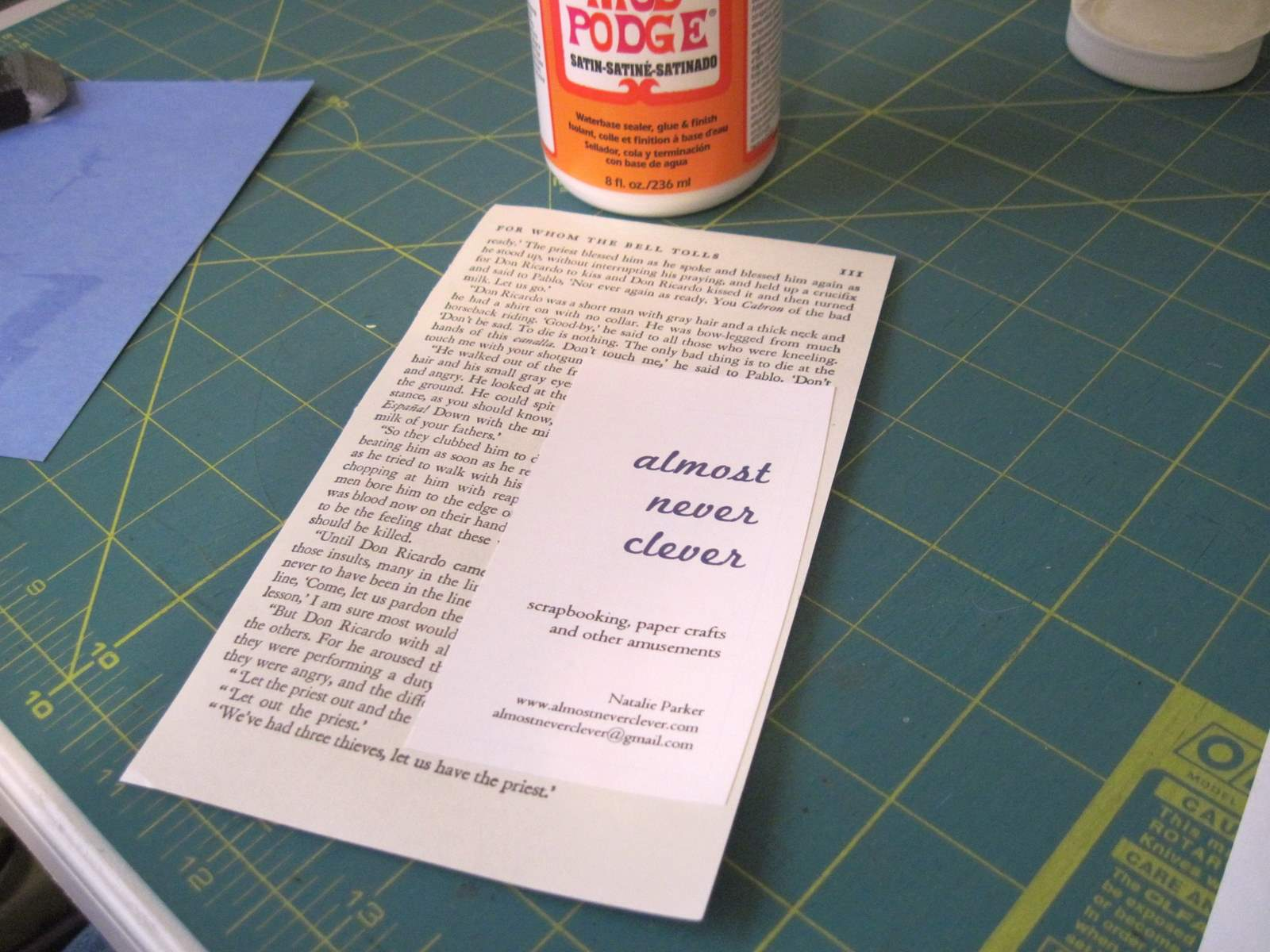 Book Page Business Cards