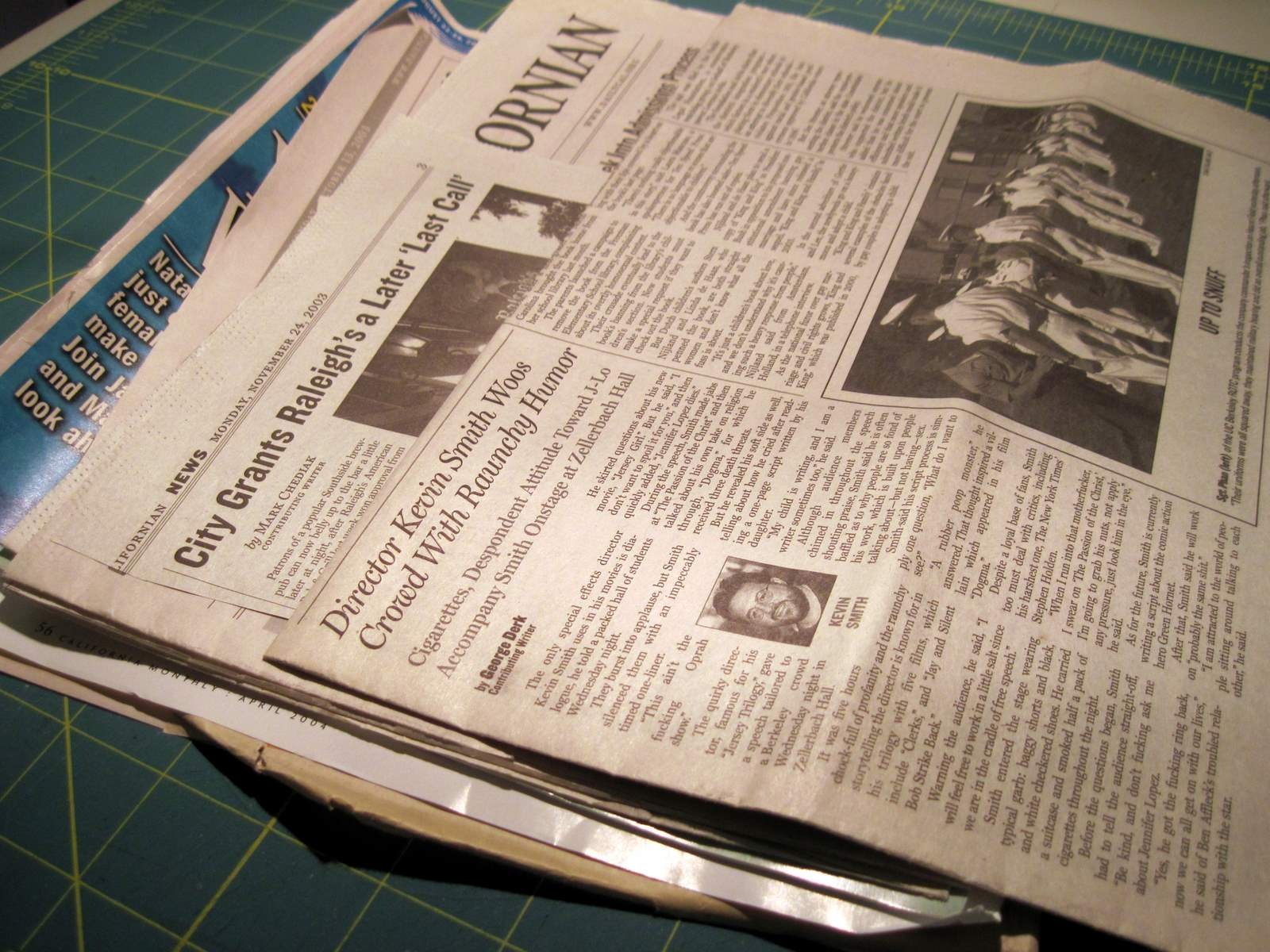 How to scrapbook newspaper clippings - The News Layout