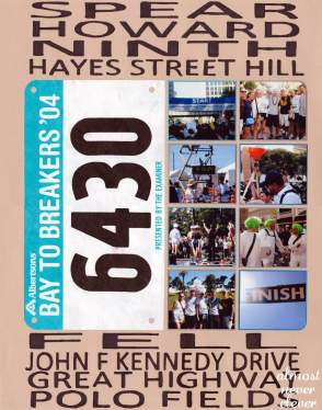 Bay to Breakers Scrapbook Page