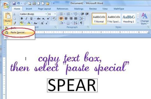 Microsoft Word Scrapbook Screenshot