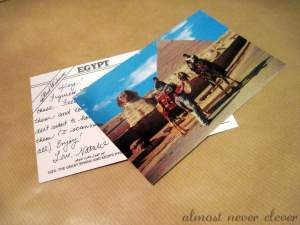 Postcards as Notecards