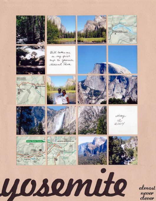 Yosemite Scrapbook Layout