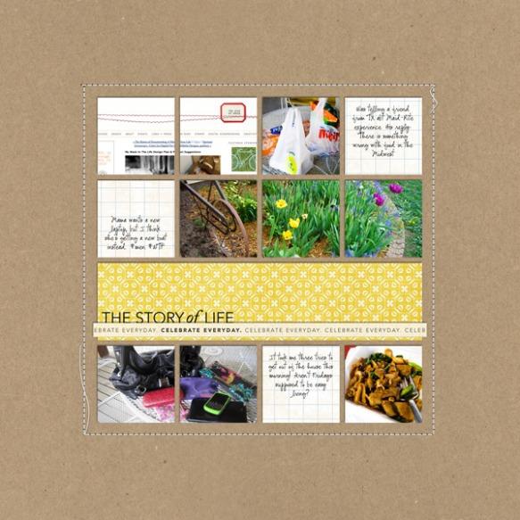 Yosemite Scrapbook Layout Inspiration