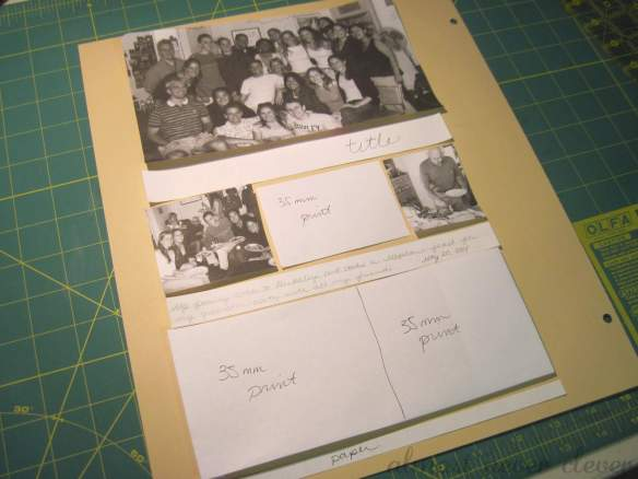 Scrapbook layout draft.