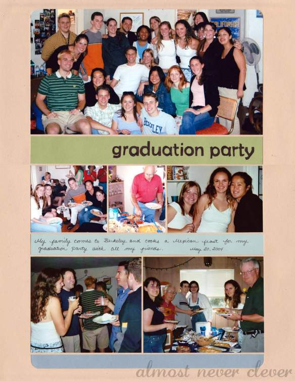 Graduation party scrapbook page.