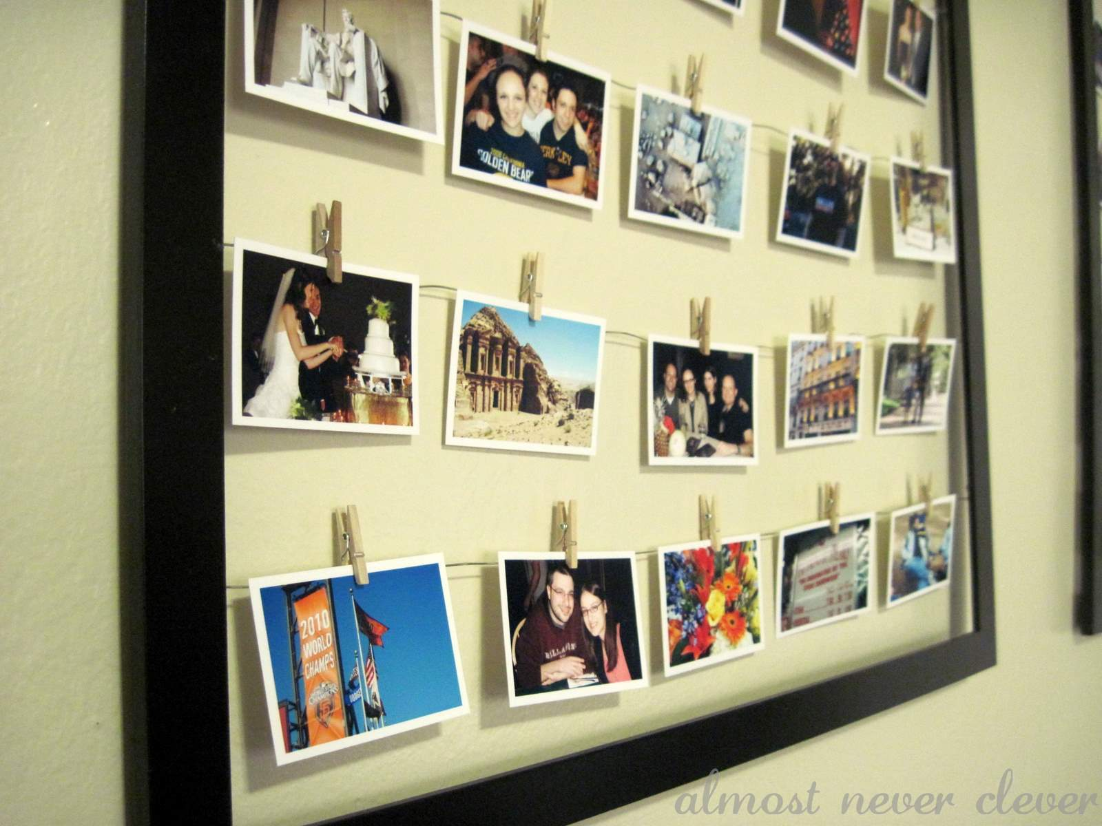 the modern collage frame almost never clever