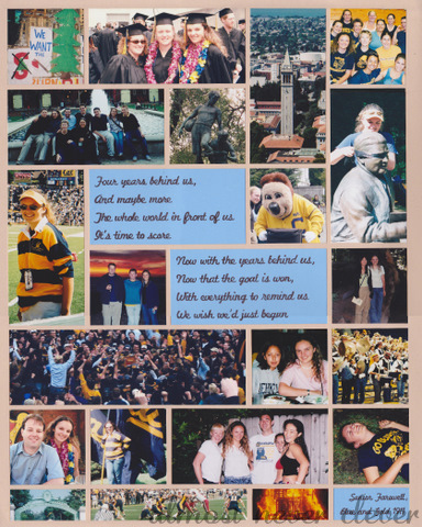 College scrapbook page