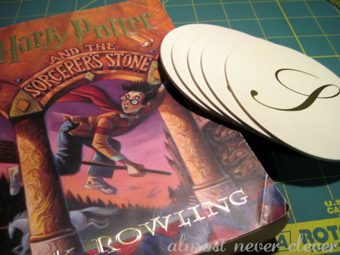 Harry Potter Book Coasters