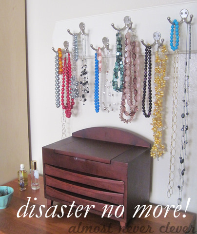 Finished jewelry rack.