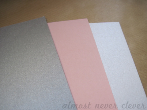 Wedding cardstock