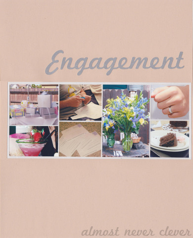 Wedding Scrapbook Enagement Page