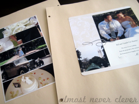 Wedding Scrapbook Intro Page