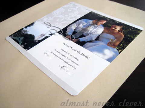 Wedding Scrapbook Intro Page