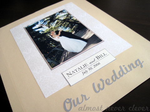 Wedding Scrapbook Title Page