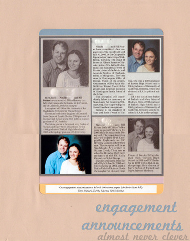 Engagement Announcement Scrapbook Page