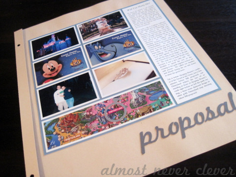 Wedding Scrapbook Proposal Layout