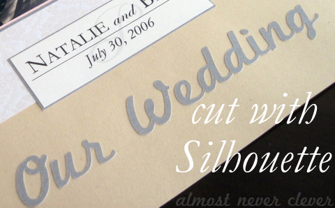 Scrapbook headline cut with Silhouette SD