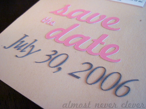 Save the Date scrapbook layout