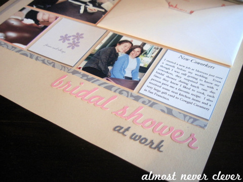 Bridal Shower Scrapbook Layout