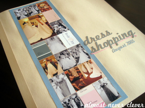Wedding Dress Shopping Scrapbook Layout Wedding dress shopping