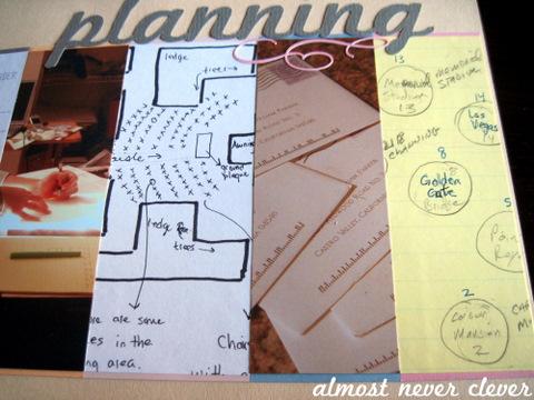 Wedding Planning Scrapbook Layout