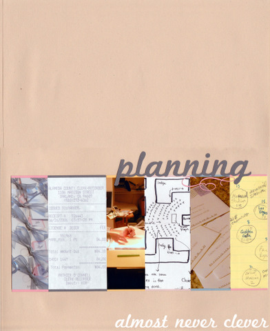 Wedding Planning Scrapbook Layout