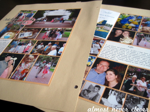 Wedding Rehearsal Scrapbook