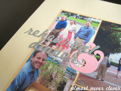 Wedding Rehearsal Scrapbook There are 2 separate blocks of text
