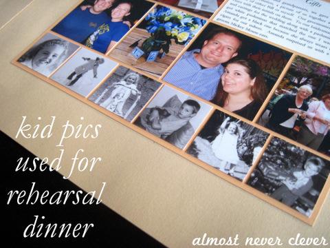 Wedding Rehearsal Scrapbook