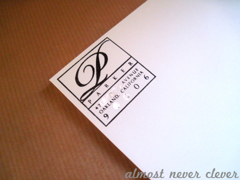 Paper Source Custom Stamp