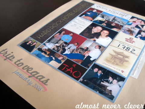 Bachelor Bachelorette Party Scrapbook Layout