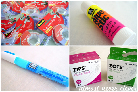 Scrapbooking Tape and Scrapbooking Glue