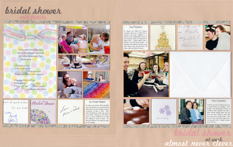 Bridal Shower Scrapbook Layout To see all of my wedding scrapbook pages