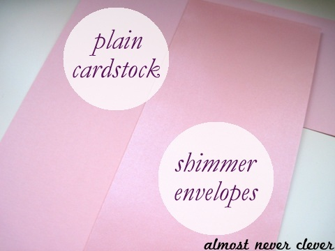 Pink Shimmer Cardstock Wedding Scrapbook