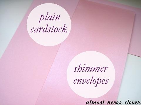 Pink Shimmer Cardstock Wedding Scrapbook