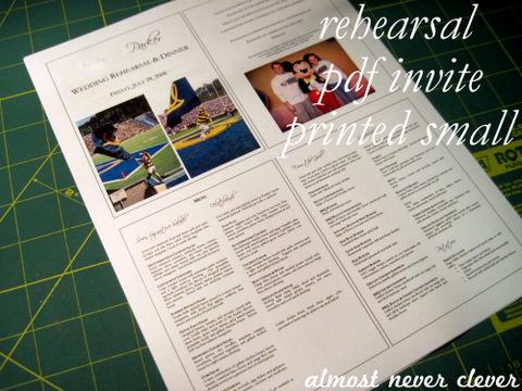 Wedding Rehearsal Scrapbook Page