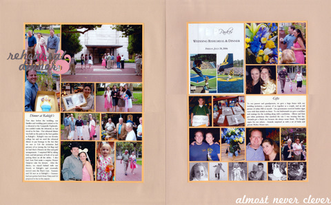 Wedding Rehearsal Scrapbook Page