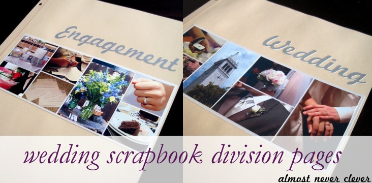 To see all of my wedding scrapbook pages so far visit my wedding scrapbook