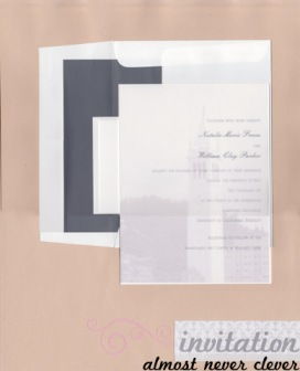 Wedding Invitation Scrapbook Page