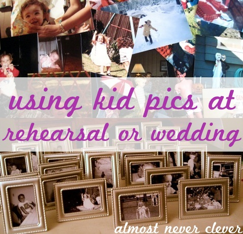 Using kid pictures at wedding