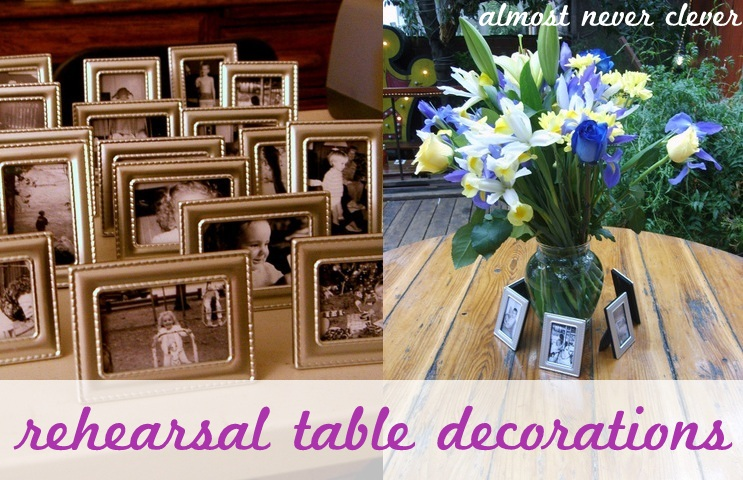 Using baby or kid pictures at your wedding almost never clever rehearsal dinner decorations junglespirit Image collections