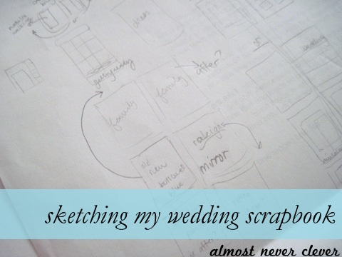 Wedding Scrapbook Sketch