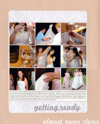 Wedding Scrapbook Getting Ready Page