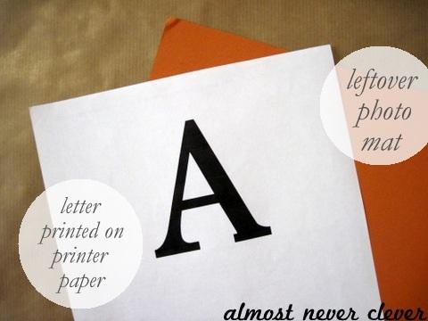 Make a custom door letter