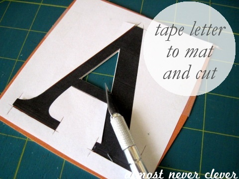 Make a custom door letter