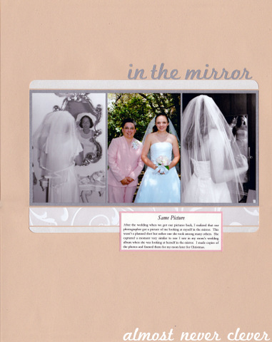 Mother Daughter Wedding Scrapbook Page